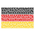 german flag collage of electric strike items vector image vector image