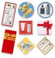 gift boxes with cosmetics vector image vector image