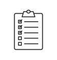 golfers checklist linear icon vector image vector image