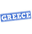 greece grunge stamp vector image vector image