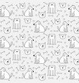 hand drawn cute dogs pattern background vector image vector image