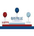 happy bastille day 14th july vector image vector image