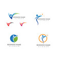 health life logo and symbols template icon vector image
