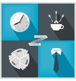 Icon set to start day at the office vector image
