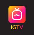 igtv icon set vector image vector image