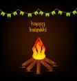 indian festival baisakhi vector image vector image