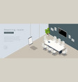isometric modern meeting room interior with empty vector image vector image