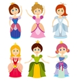 Little cute princesses show kids bride girl vector image