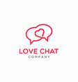 love chat logo design vector image vector image
