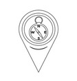 map pointer compass icon vector image