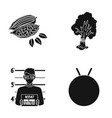 nature army protection and other web icon in vector image vector image