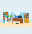 office workplace interior of the room vector image vector image