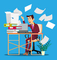 overloaded manager concept overloaded businessman vector image vector image