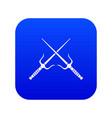 pair of sai icon digital blue vector image vector image