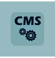 Pale blue CMS settings icon vector image vector image
