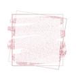 pink rose gold glitter frame banner background vector image vector image