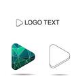 play icon or logo vector image vector image
