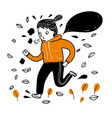 pretty girl running exercise in the cold weather vector image