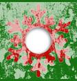 red snowflake christmas card vector image