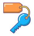 room key at hotel icon cartoon style vector image vector image