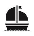 sailboat icon vector image vector image