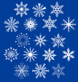Set of decorative snowflakes vector image