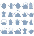set of teapot icon tea symbol vector image