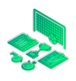 soccer isometric color vector image