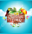 summer time holiday typographic vector image vector image