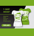 t-shirt mockup with snake and funny phrase in two vector image vector image