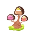 Tree With Chocolate Trunk And Chocolate Candy vector image vector image