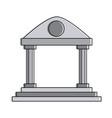 university building symbol vector image vector image