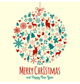 Vintage Christmas Elements vector image vector image