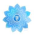 vishudda fifth chakra coloring vector image vector image