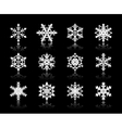white snowflakes on black background vector image vector image