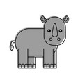wild rhinoceros isolated icon vector image