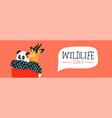 wildlife day web banner of animal friends hug vector image vector image