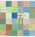 Set of seamless childish patterns vector image