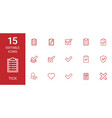 15 tick icons vector image vector image