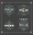 4 vintage typographic label premium vector image vector image
