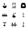 9 seed icons vector image vector image
