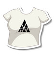 a sticker template with white t-shirt isolated vector image