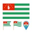 Abkhaziacountry flag vector image