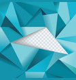 abstract geometrical background polygonal design vector image vector image