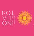 abstract ornamental pink and yellow circle vector image vector image
