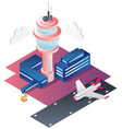 airport isometric flat design vector image