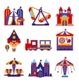 Amusement Park Flat Design vector image