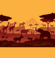 animals and wildlife sunrise or sunset background vector image