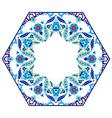 Antique ottoman turkish pattern design eighty six vector image vector image