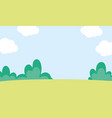 background landscape meadow bush sky clouds nature vector image